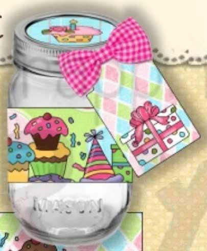 Birthday Wishes Mason Jar Labels
