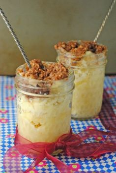 5 Minute (Microwave) Coffee Cake in a Jar ~ # SUNDAY SUPPER DESSERTS IN JARS SUMMER TOUR!